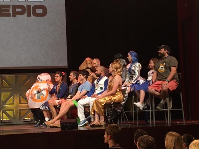 What, no Jar Jar Binks cosplayers in the audience?