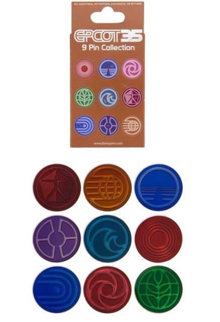 Epcot-mystery-pins-set-35-anniversary-walt-disney-world