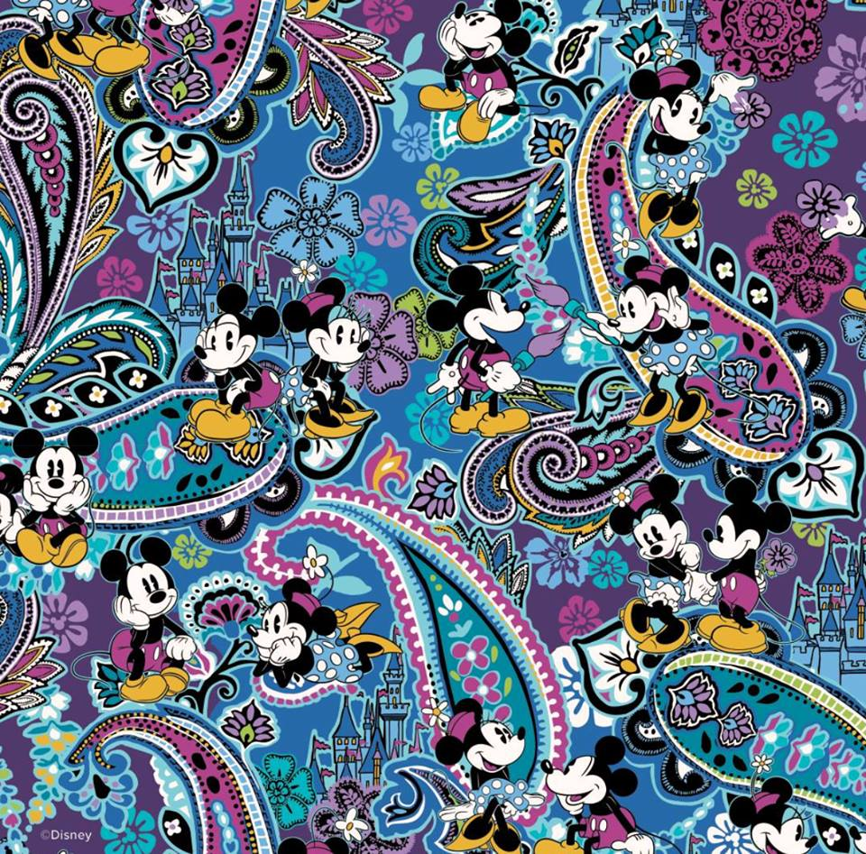 New Vera Bradley Mickey's Paisley Celebration 90th Birthday Design