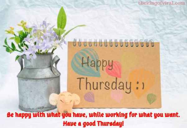 happy thursday Greeting with quotes images