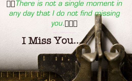 i miss you my love