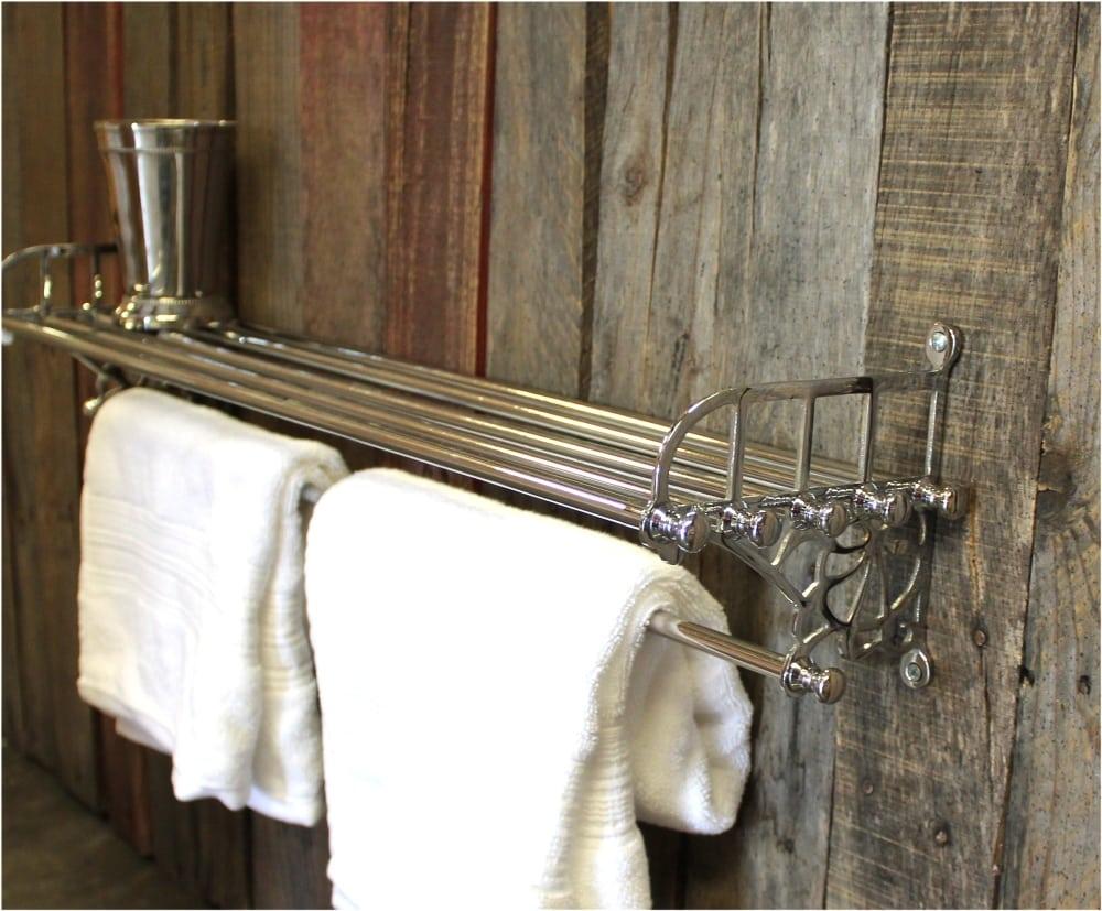 chrome train rack shelf and towel bar antique replica the kings bay