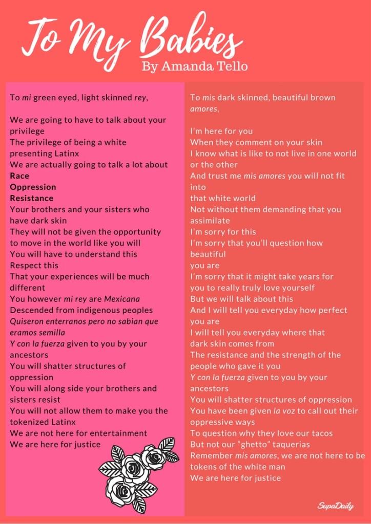 poem by Amanda Tello