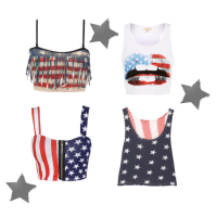 American Flag Crop Tops Under $50