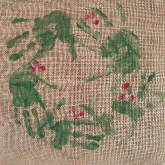 "My childhood ""handmade"" wreath"