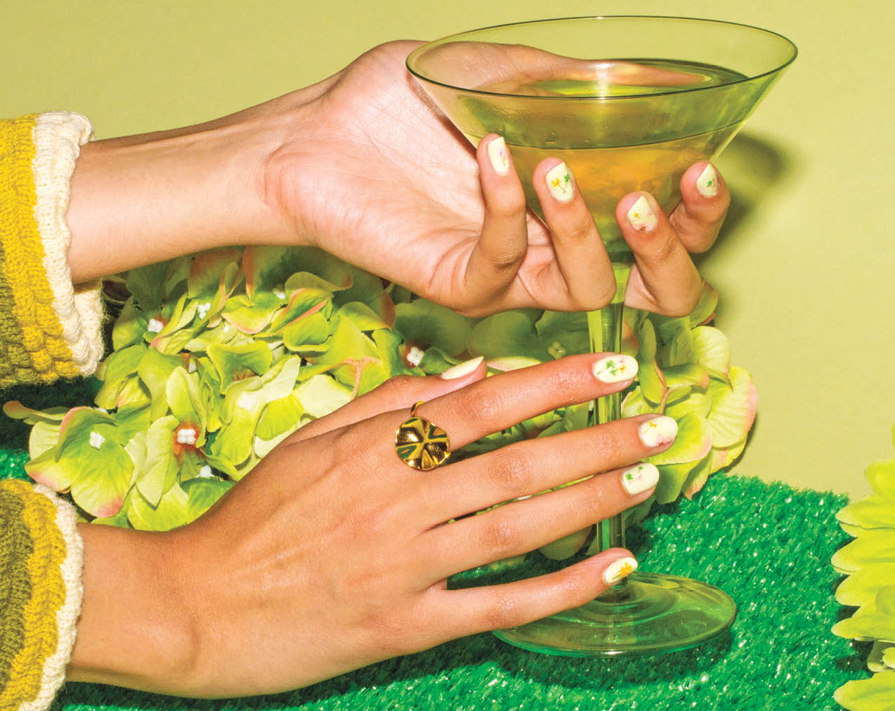 Green Nail Art Fit For A Millennial Gardener Plus How To Create