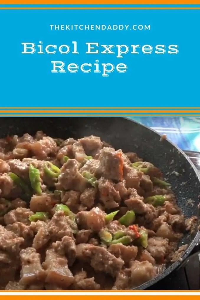 Bicol express recipe