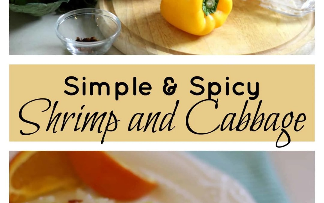 Simple and Spicy Shrimp and Cabbage