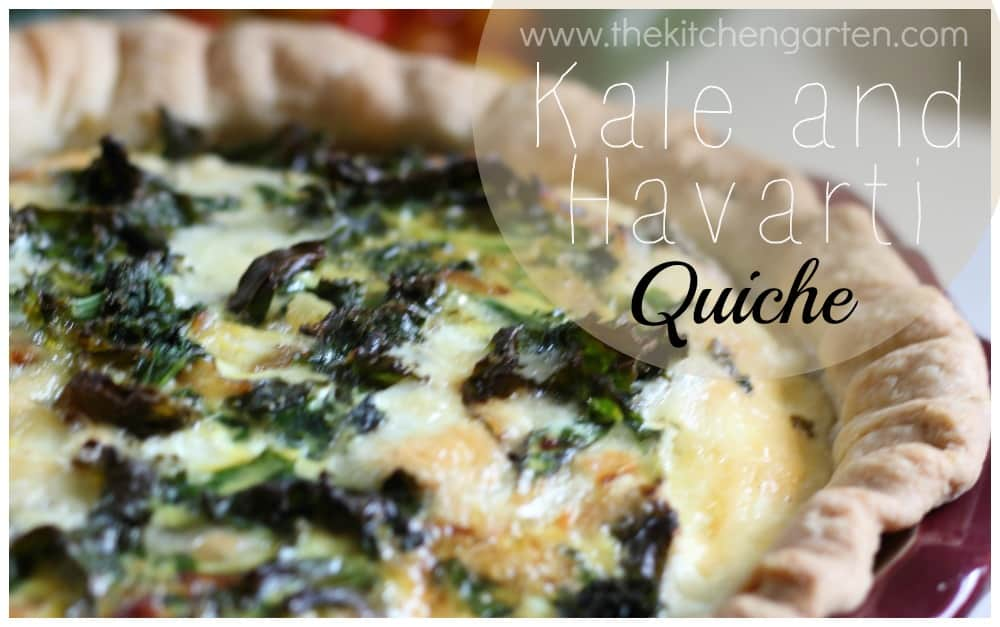 Kale and Havarti Quiche
