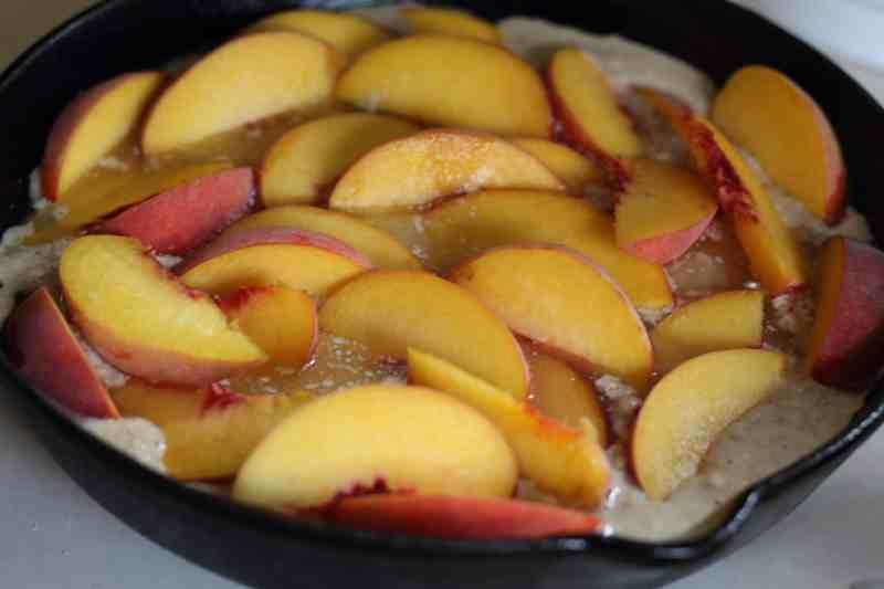 unbaked peach cobbler