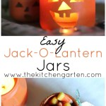 DIY Recycled Jack-O-Lantern Jars