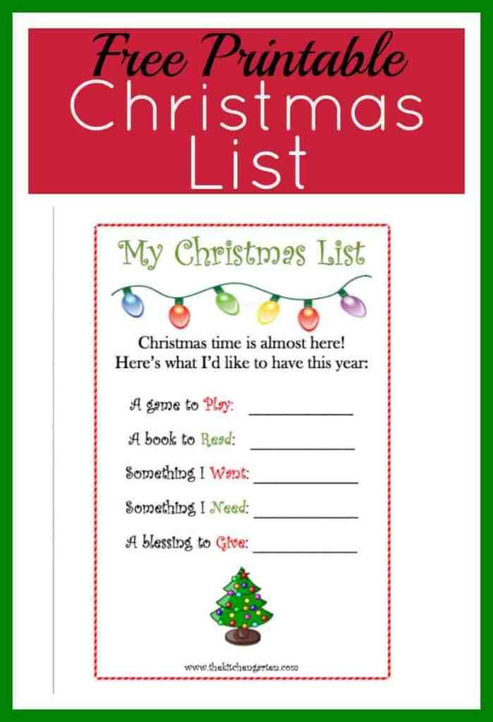 christmas list pin