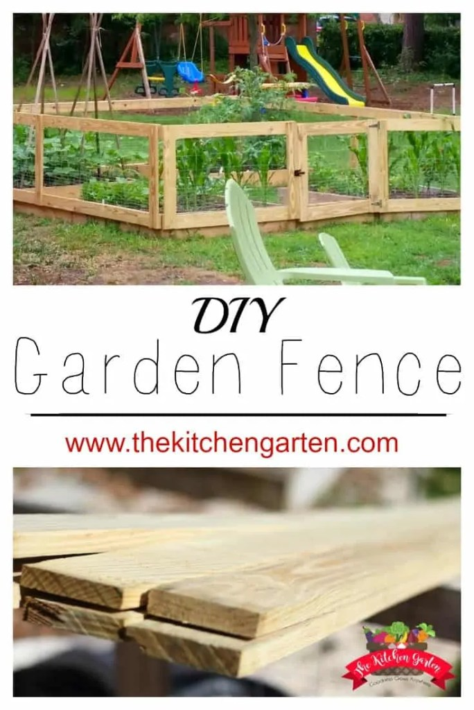 How to build a diy raised bed garden fence the kitchen garten for Building a fence around a garden
