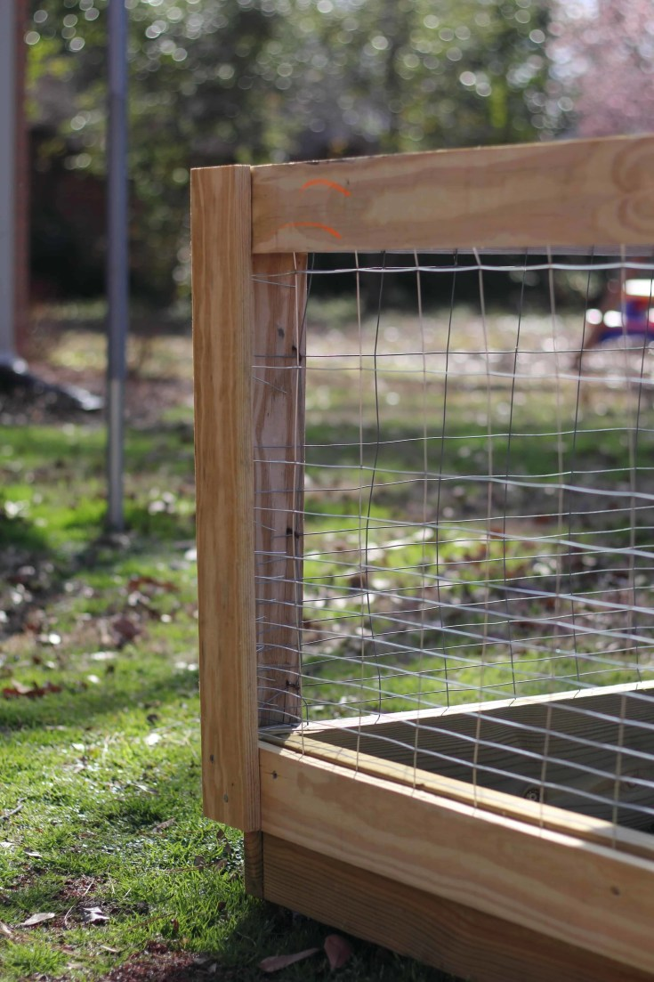 How To Build A Diy Raised Bed Garden Fence The Kitchen Garten