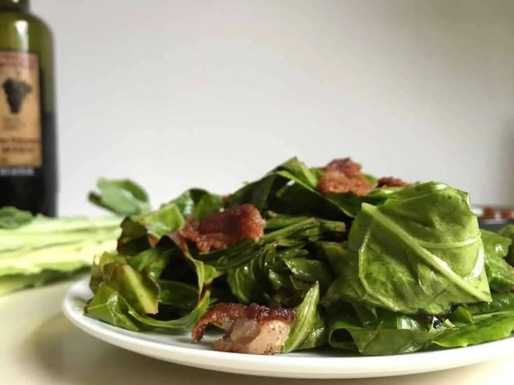 balsamic bacon collards