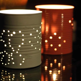 DIY Tin Can Garden Lanterns- Blogger Challenge