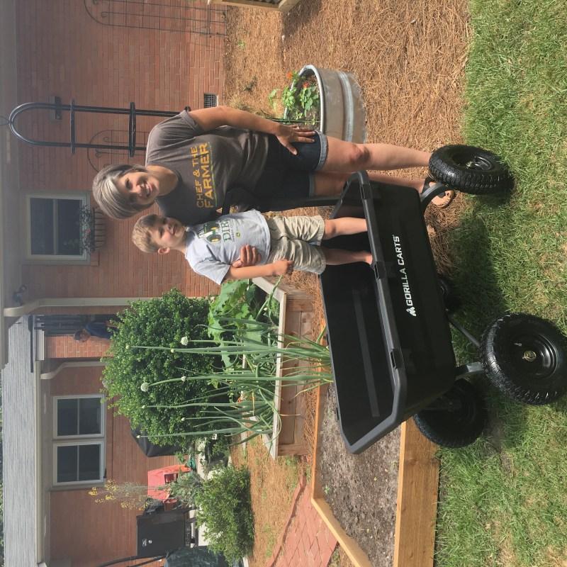 gorilla garden cart outside