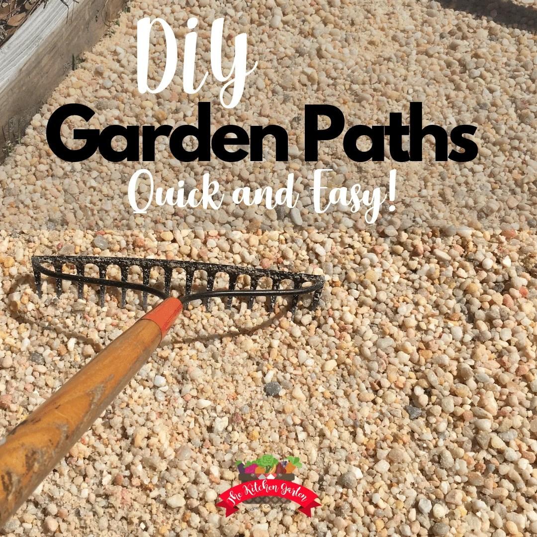 Easy Diy Gravel Garden Paths The Kitchen Garten
