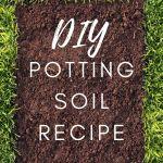 DIY potting soil in grass