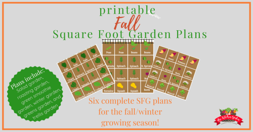 fall square foot garden plans