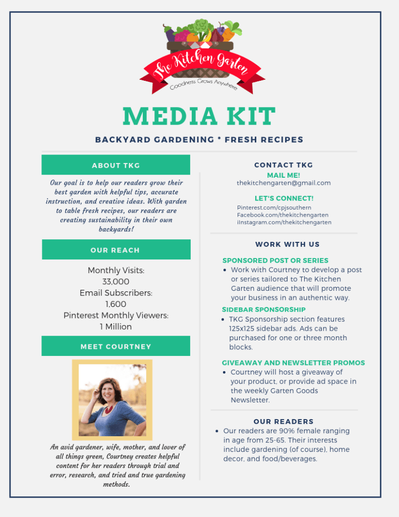The Kitchen Garten Media Kit