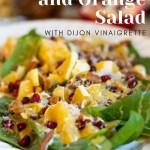 pomegranate and orange spinach salad