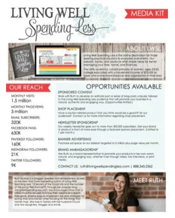 living well spending less media kit