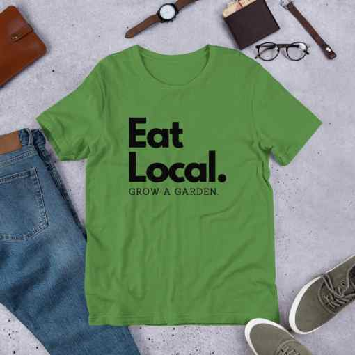 eat local garden shirt