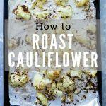 roasted cauliflower on pan
