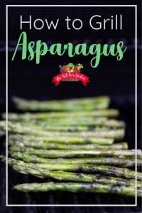 Fresh asparagus on the grill