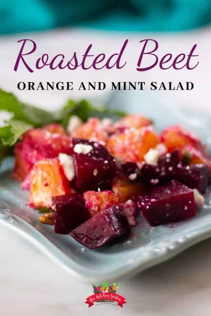 Roasted Beet, Orange, and Mint Salad