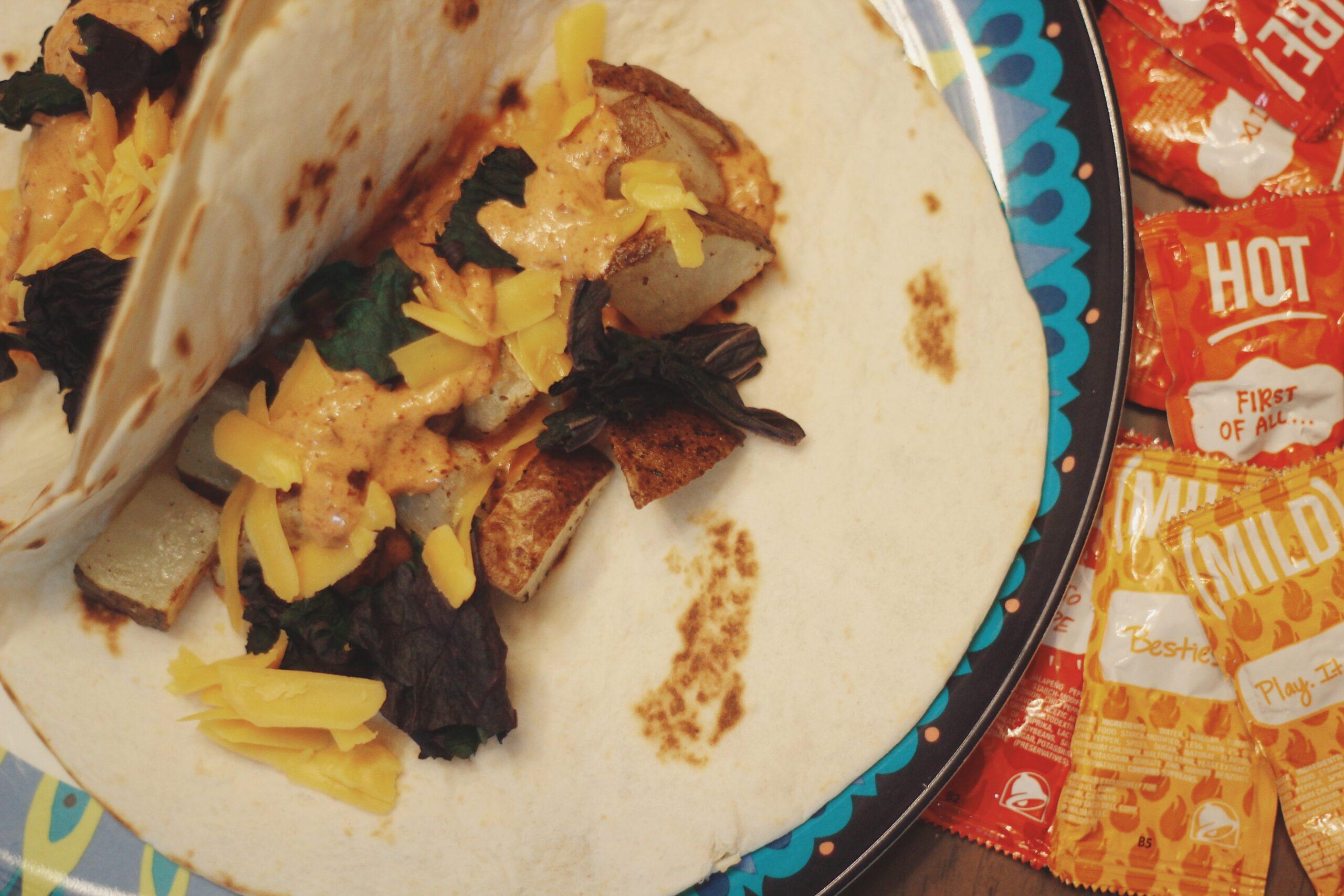 Spicy Potato Soft Taco | The Kitchen Gent