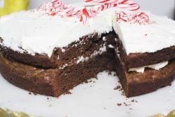 Peppermint Brownie Cake | The Kitchen Gent