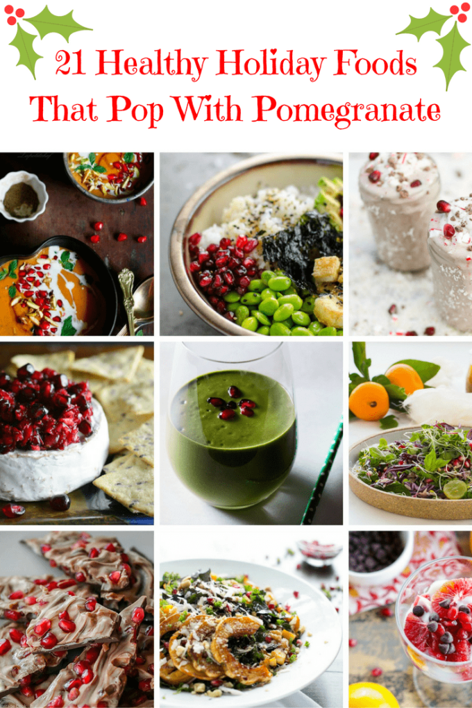 Check out the 21 ways to get pomegranate on your holiday table. Easy, healthy, gorgeous!