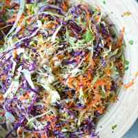 Asian Slaw with Quinoa and Sesame Ginger Dressing