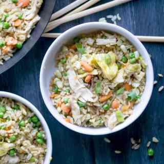 Better Than Takeout Chicken Fried Brown Rice