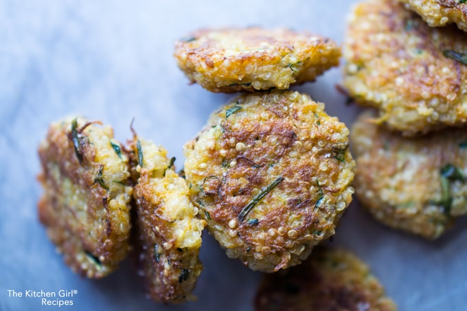 One bite and you're hooked! Whether it's Game day or lunch at the office, these fritters are addictive! So easy to mix up and lightly pan fry. Crabless Cakes are GF friendly too! thekitchengirl.com
