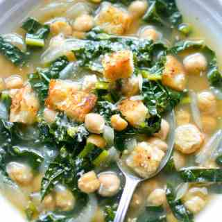 In-A-Hurry Kale Chickpea Soup