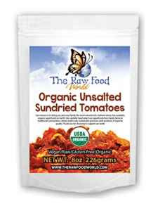 Organic Raw Sun-Dried Tomatoes (No Salt & Unsulphered), 8oz