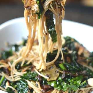 Sautéed Sesame Kale Noodles