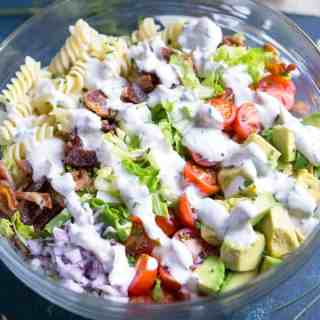 BLT Pasta Salad with Avocado and Ranch