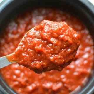 Slow Cooker Freezer Marinara Pasta Sauce