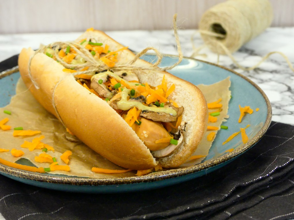 Hot dog végétarien (5)