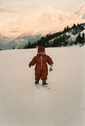 Ma première descente à ski...