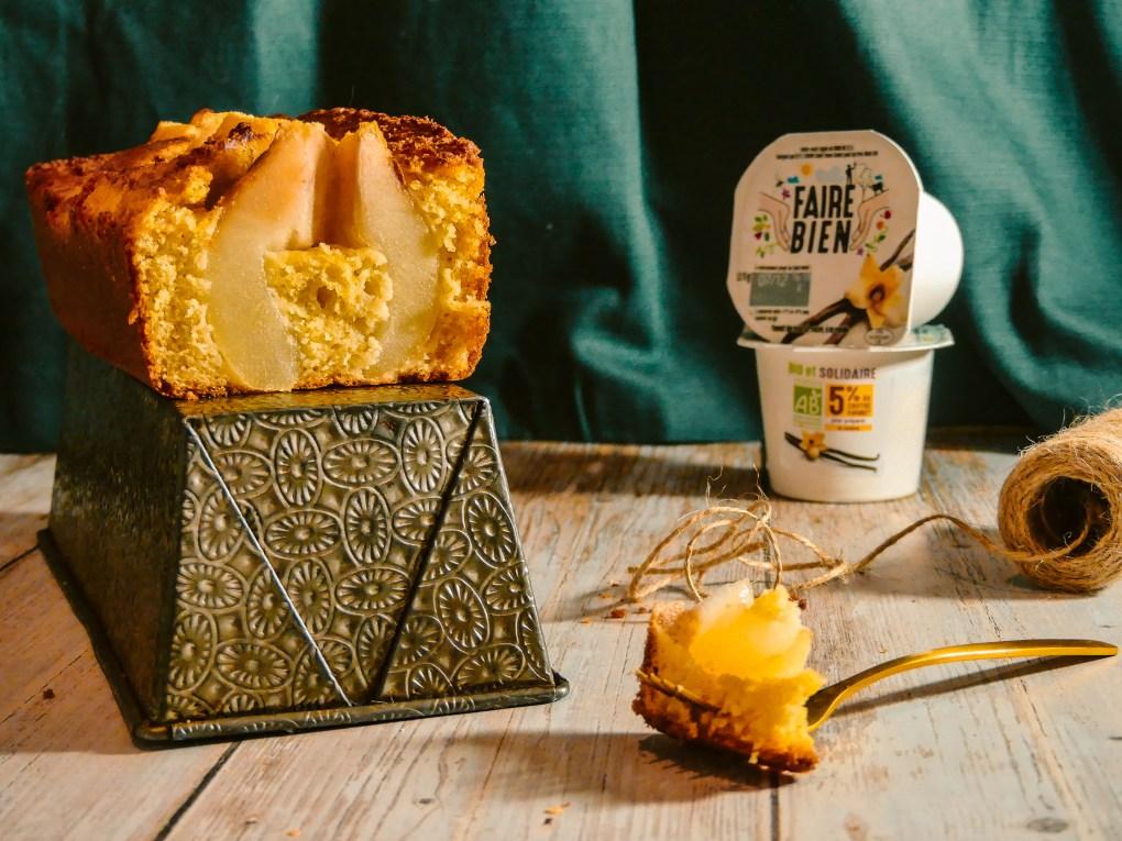 Cake yaourt vanille poire (5)