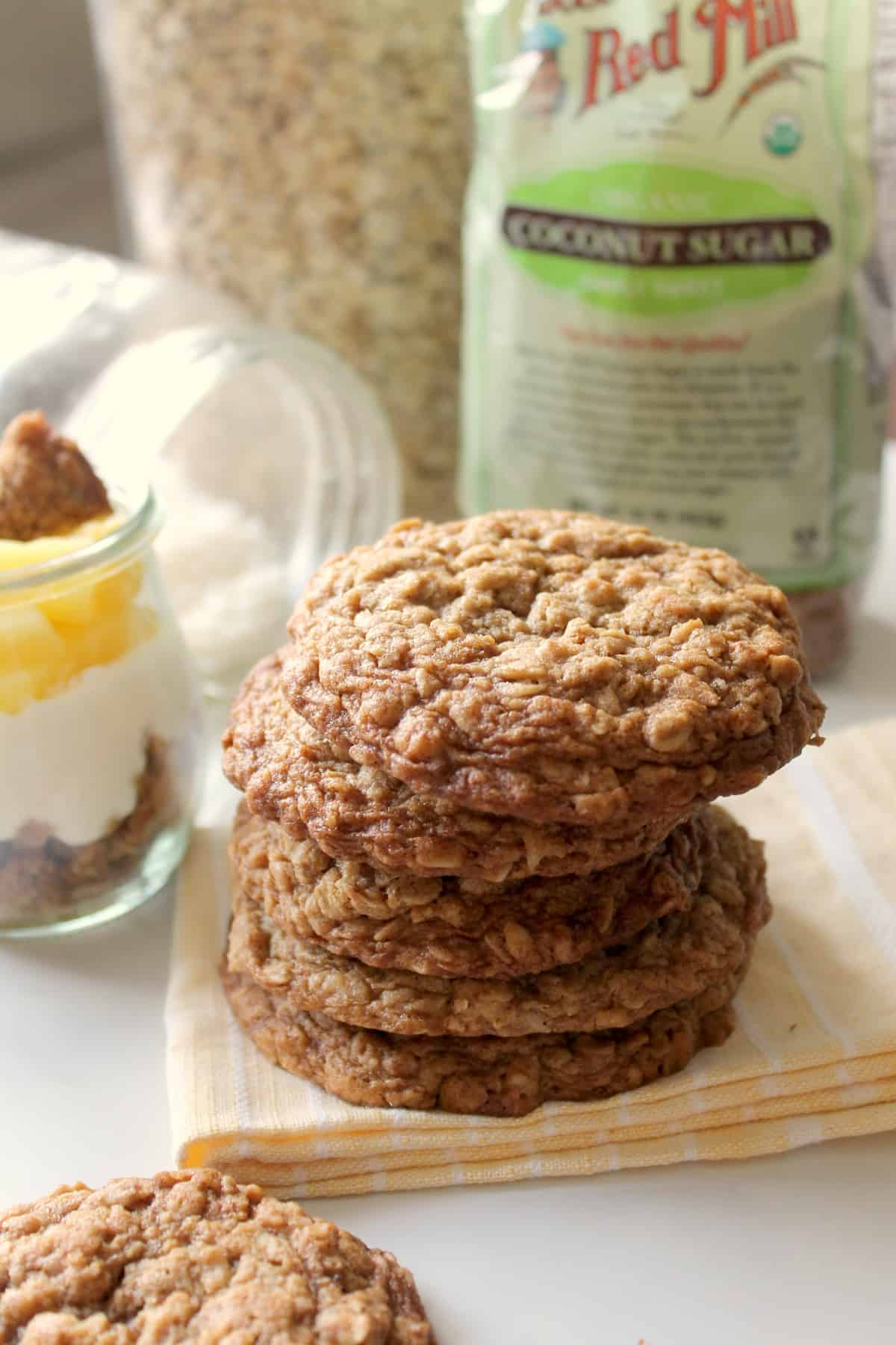 Salted Coconut Oatmeal Cookies