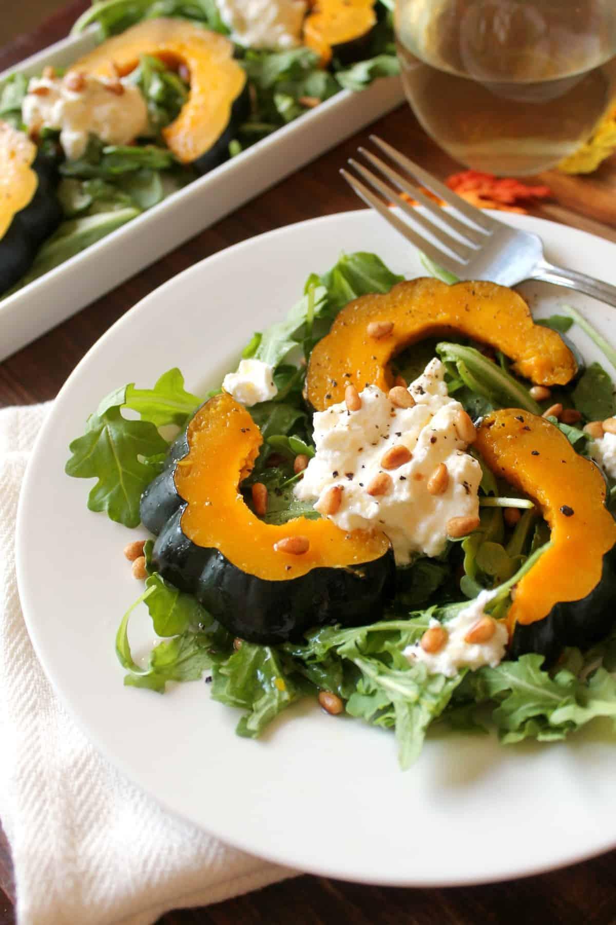 Acorn Squash Ricotta Salad