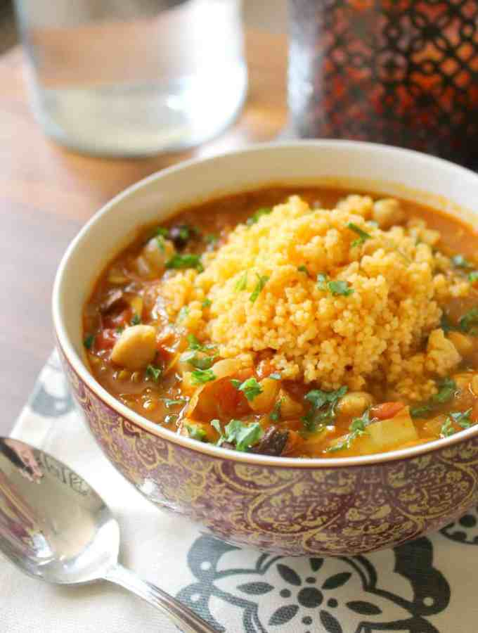 Moroccan-Spiced Vegetable Soup via The Kitchen Prep. An easy and flavorful meal for a cold day!
