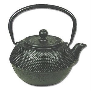 Japanese Tetsubin Cast Iron 40 oz Black Hobnail Teapot