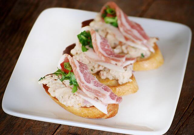 Crostini is always a great option for hors d'oeuvres